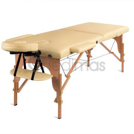 Masážny stôl prenosný drevený dvojdielny Prosport2