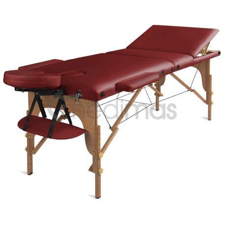 Masážny stôl prenosný drevený trojdielny Prosport3
