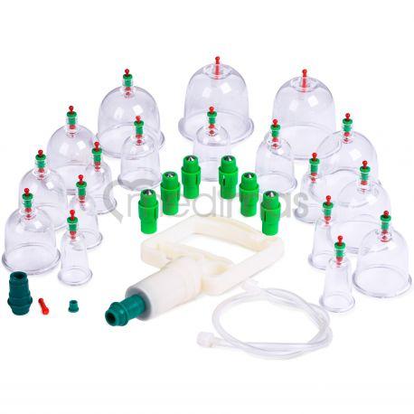 Plastové vákuové masážne banky s pumpičkou  18ks